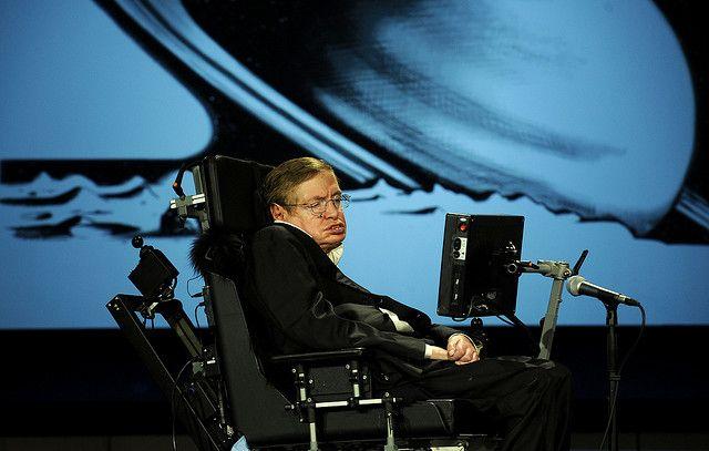 """Stephen Hawking NASA 50th"" by NASA HQ PHOTO (CC:BY-NC)"